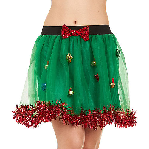 Adult Gift Bows & Bells Christmas Skirt Image #1
