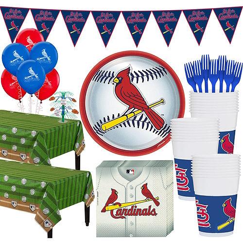 Super St. Louis Cardinals Party Kit for 36 Guests Image #1