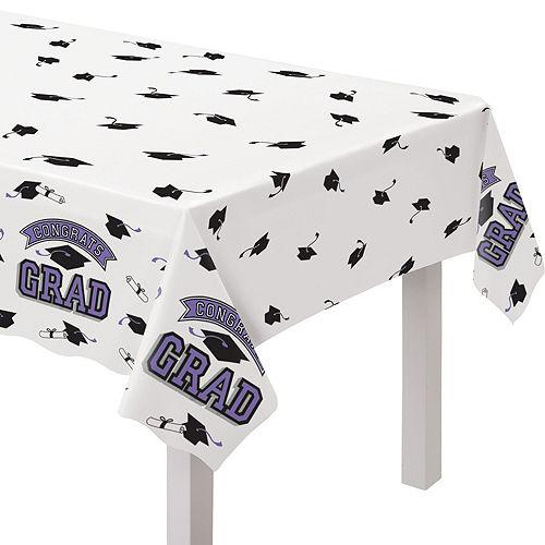 Congrats Grad Purple Graduation Tableware Kit for 18 Guests Image #7
