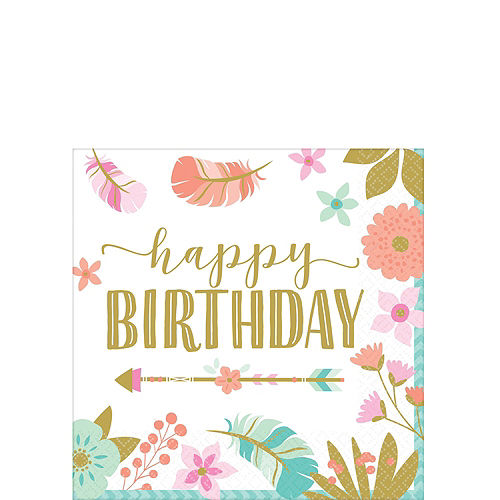 Boho Girl 1st Birthday Party Kit for 16 Guests Image #4
