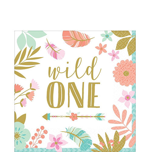 Boho Girl 1st Birthday Party Kit for 16 Guests Image #5