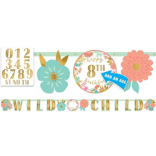 Boho Girl 1st Birthday Party Kit for 16 Guests Image #8