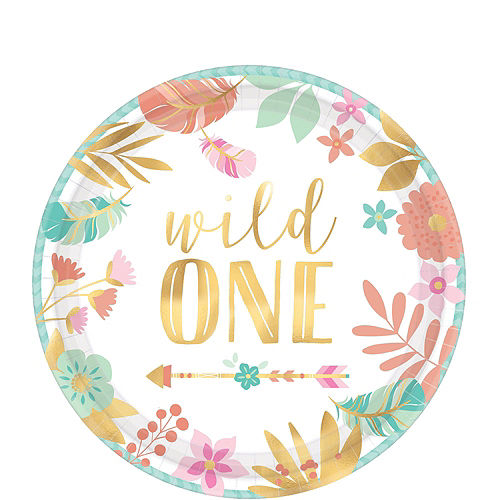 Ultimate Boho Girl 1st Birthday Party Kit for 32 Guests Image #2