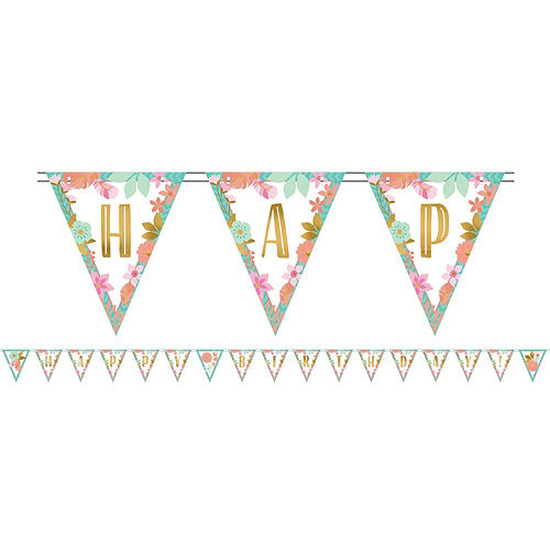 Ultimate Boho Girl 1st Birthday Party Kit for 32 Guests Image #11