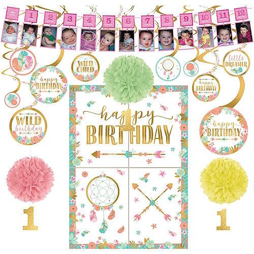 Boho Girl 1st Birthday Decorating Kit Image #1