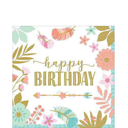 Boho Girl Birthday Party Kit for 16 Guests Image #5