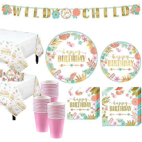 Boho Girl Birthday Party Kit for 32 Guests Image #1
