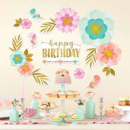 Ultimate Boho Girl Birthday Party Kit for 32 Guests Image #14