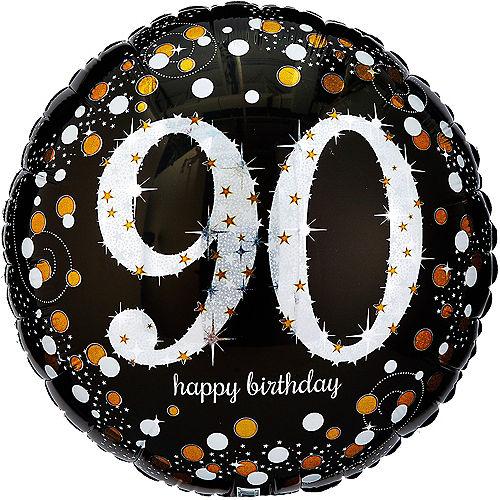 90th Birthday Balloon 18in - Sparkling Celebration, 18in Image #1