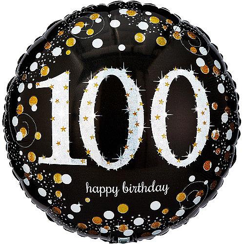 100th Birthday Balloon 18in - Sparkling Celebration Image #1