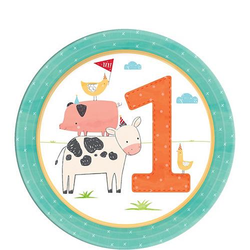 Friendly Farm 1st Birthday Dessert Plates 18ct Image #1