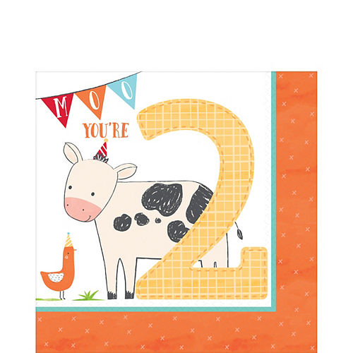 Nav Item for Friendly Farm 2nd Birthday Lunch Napkins 36ct Image #1