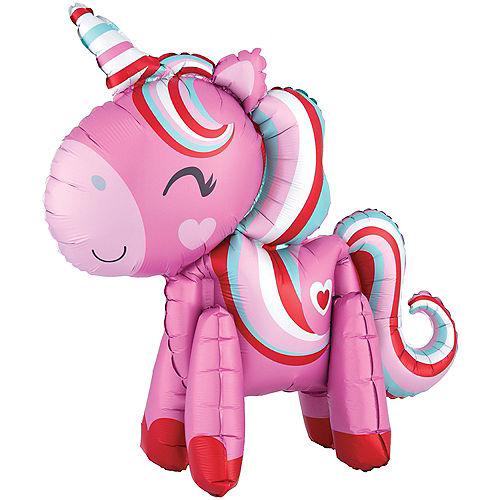 Air-Filled Magical Love Unicorn Balloon, 22in Image #1