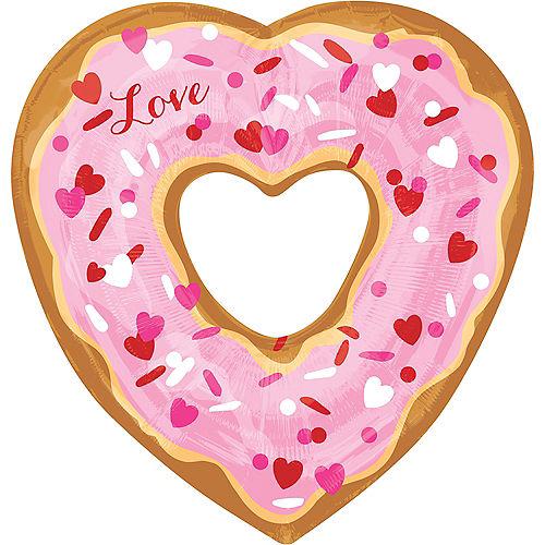 Love Donut Heart Balloon, 25in Image #1