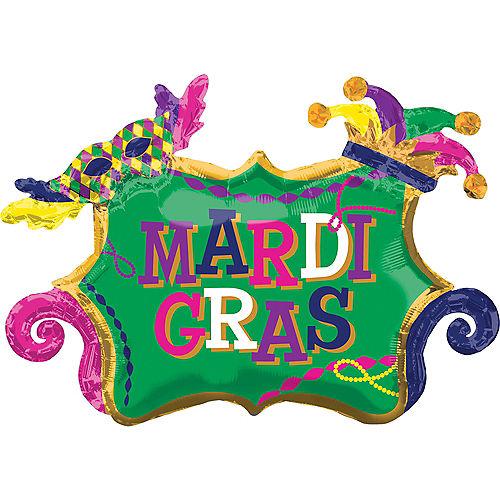 Giant Mardi Gras Balloon, 34in Image #1