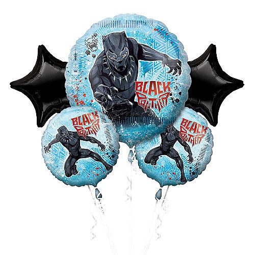 Black Panther Balloon Bouquet 5pc Image #1