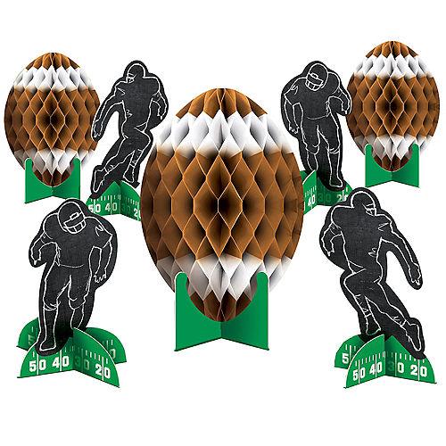 Football Honeycomb Centerpieces 7ct Image #1