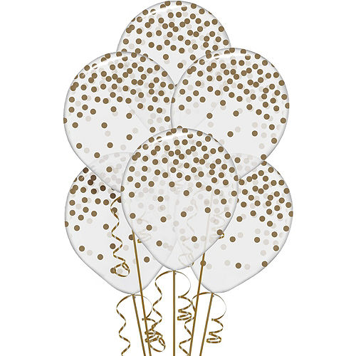 White & Gold Striped 30th Birthday Balloon Kit Image #5