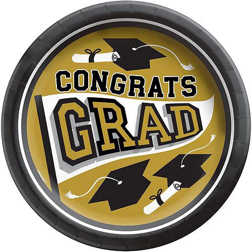 Super Congrats Grad Gold Graduation Party Kit for 54 Guests Image #3