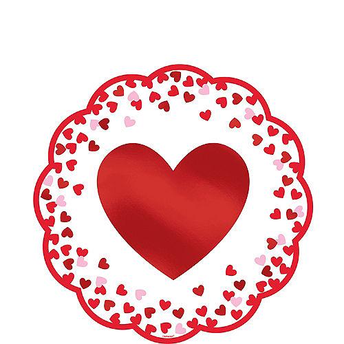 Confetti Hearts Valentine's Day Doilies 12ct Image #1