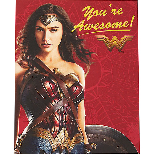 Wonder Woman Valentine Exchange Cards with Favors 12ct Image #1
