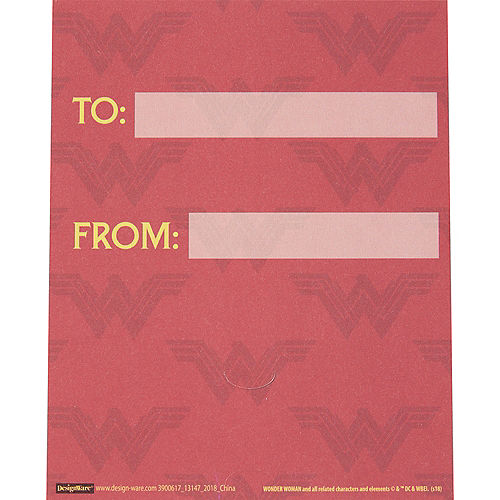 Wonder Woman Valentine Exchange Cards with Favors 12ct Image #3
