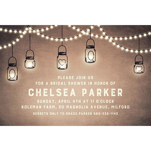 Custom Mason Jar Lanterns Invitations Image #1