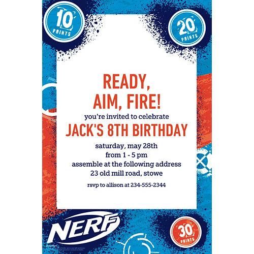 Custom Nerf Invitations Image #1