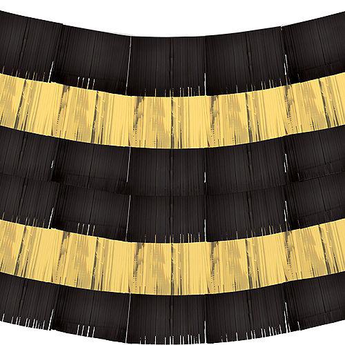 Black & Gold Fringe Banners 9ct Image #2
