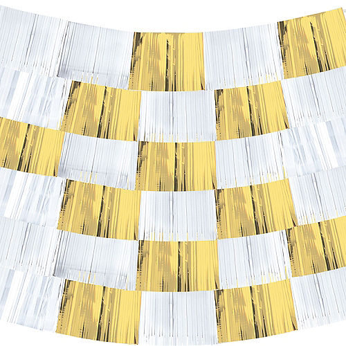 Gold & White Fringe Banners 9ct Image #2