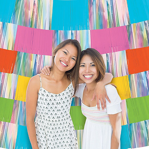 Iridescent & Multi-Colored Fringe Banners 9ct Image #1