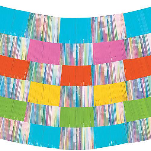 Iridescent & Multi-Colored Fringe Banners 9ct Image #2