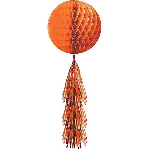 Orange Honeycomb Ball with Tail Image #1
