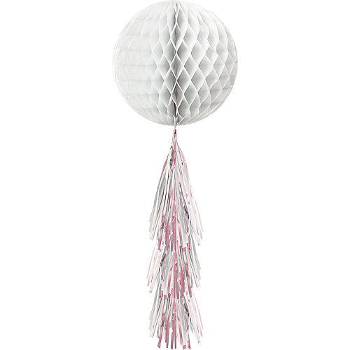 White Honeycomb Ball with Iridescent Tail Image #1
