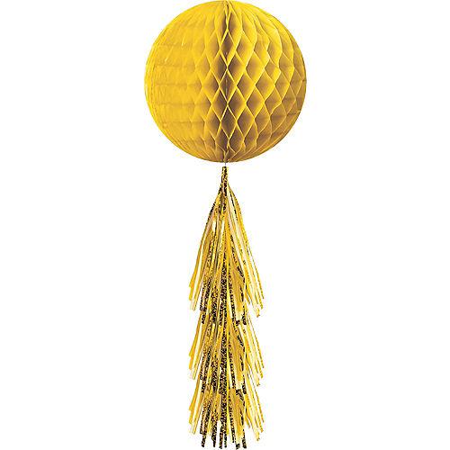 Sunshine Yellow Honeycomb Ball with Tail Image #1