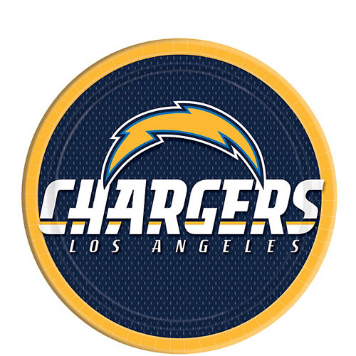 Los Angeles Chargers Lunch Plates 18ct Image #1