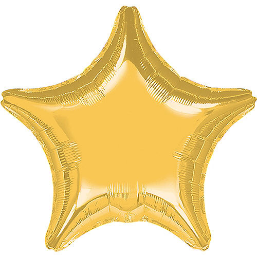 Giant Gold Star Balloon, 32in Image #1