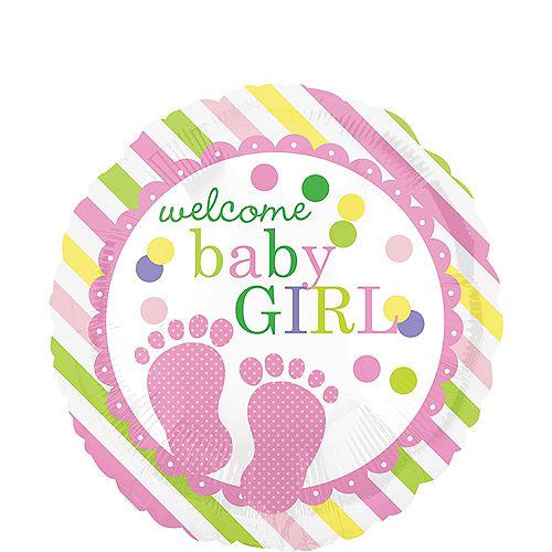 Colorful Welcome Baby Girl Balloon Image #1