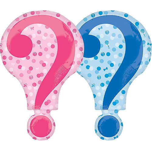 Giant Question Mark Gender Reveal Balloon, 28in Image #1