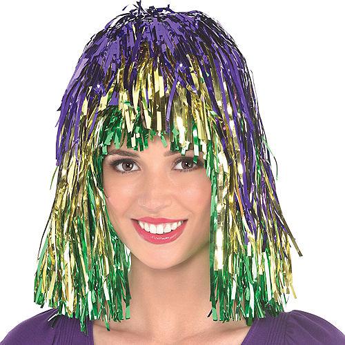Mardi Gras Tinsel Wig Image #1