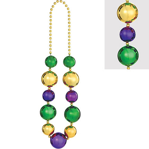Giant Mardi Gras Bead Necklace Image #1