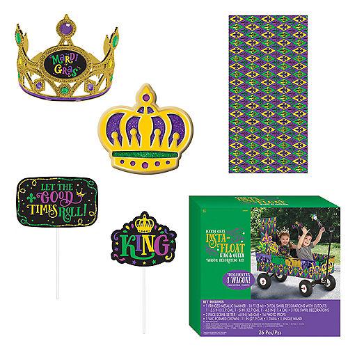 King & Queen Mardi Gras Float Kit 26pc Image #1