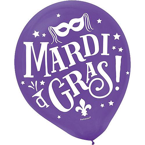 Good Times Mardi Gras Balloons 72ct Image #2