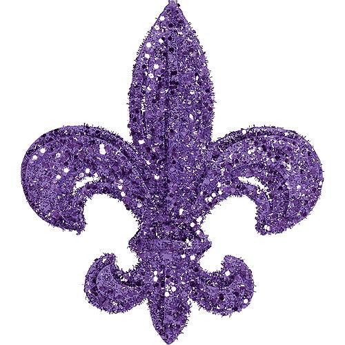 Glitter Purple Fleur-de-Lis Image #1