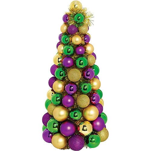 3D Gold, Green & Purple Ornament Tree Image #1