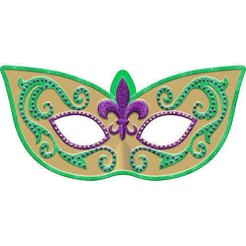 Glitter Mardi Gras Masquerade Mask Sign Image #1