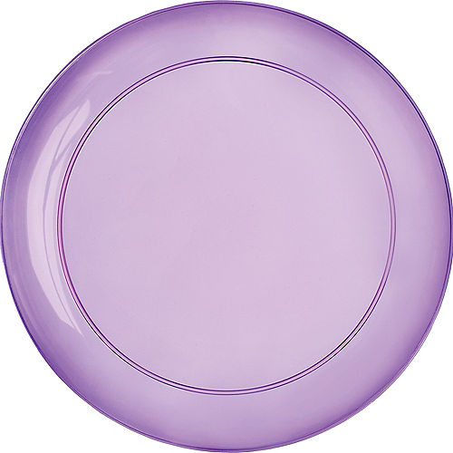 Gold, Green & Purple Lunch Plates 24ct Image #1
