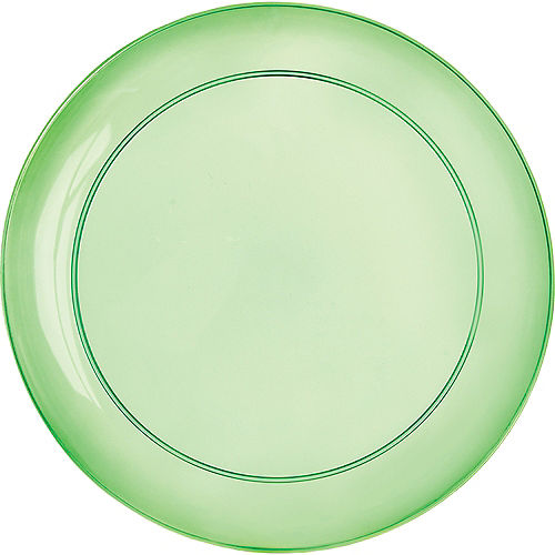 Gold, Green & Purple Lunch Plates 24ct Image #2