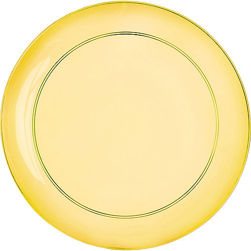 Gold, Green & Purple Lunch Plates 24ct Image #3