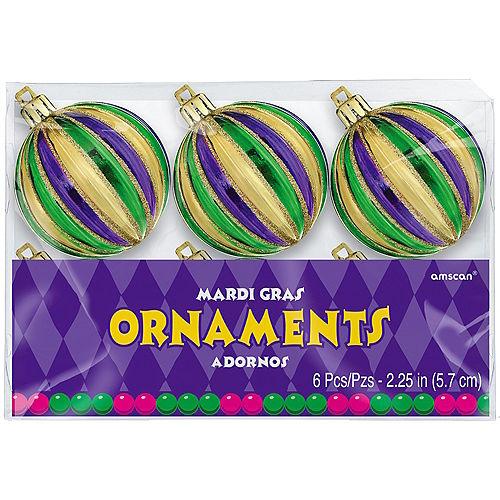 Mardi Gras Ornaments 6ct Image #2